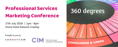 Professional Services Marketing Conference – 360 degrees